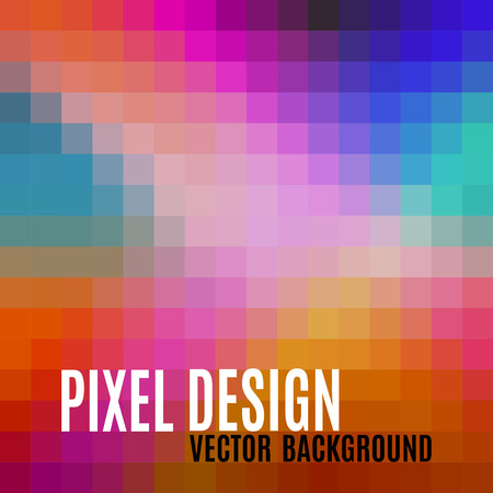 pixelate: Pixel design. Abstract background with sweet crazy colors. Illustration