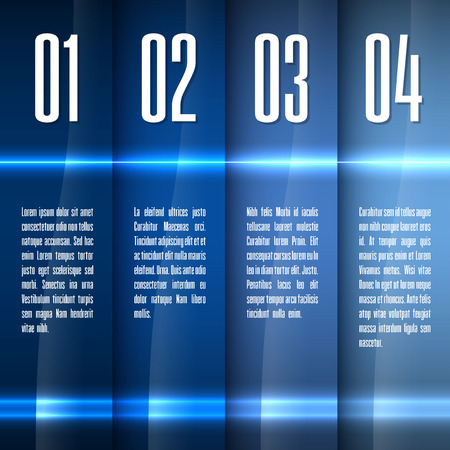 Glossy banners with glowing stripes. Modern layout. Blue graphic elements.