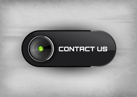 diode: Futuristic button CONTACT US with diode icons. Illustration