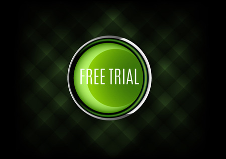 free trial: Chrome button FREE TRIAL with plastic elements