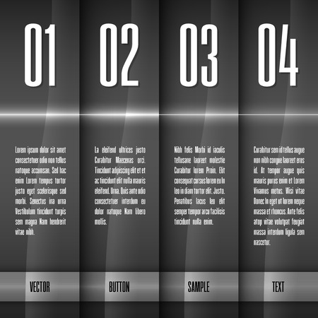 Glossy banners with glowing stripes. Modern layout. Gray graphic elements.