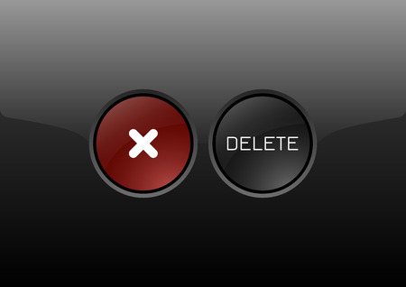 glossy buttons: Two circles as modern glossy buttons DELETE