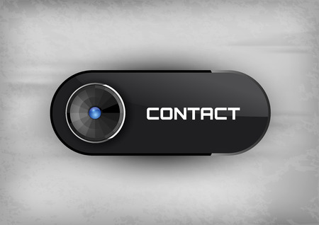 diode: Futuristic button CONTACT with diode icons. Illustration