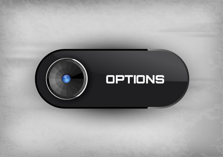 diode: Futuristic button OPTIONS with diode icons. Illustration
