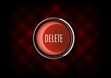 delete: Chrome button DELETE with plastic elements Illustration