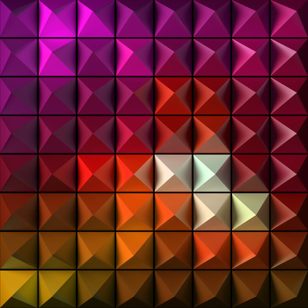 the patterns: Pyramid as abstract background. 3D rendered pattern.