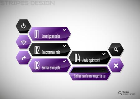the layout: Modern heaxon layout.  Illustration