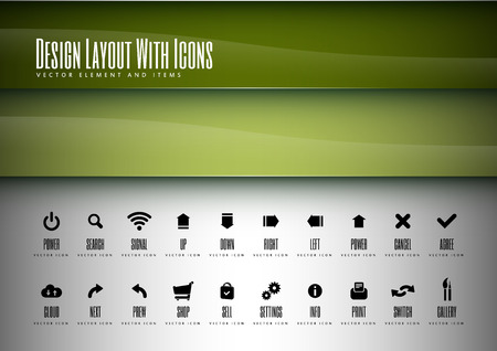Icons set. Modern design layout. Vector elements. Vector
