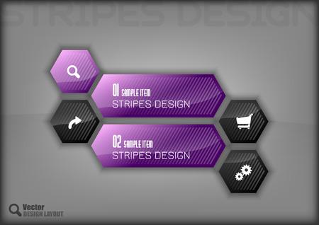 the layout: Modern hexagon layout. Illustration