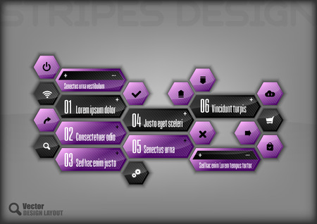 lay-out: Modern hexagon layout.  Stock Illustratie