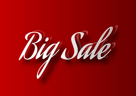 pricetag: Red table with white SALE text. Vector design elements.