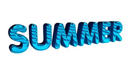 sumer: Summer text isolated on the white.