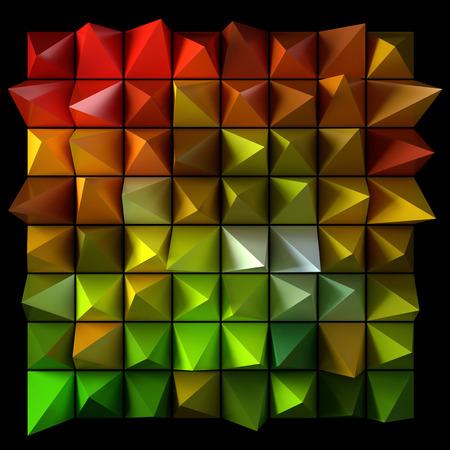 sharp: Sharp random pyramids.  Stock Photo