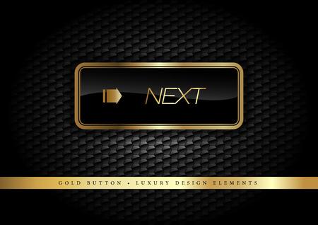 eleganz: Gold-Taste auf der Luxus-schwarzem Hintergrund. Mehr goldenen Knöpfen in diesem Stil auf meinem Portfolio. Illustration