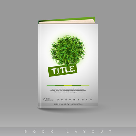 Modern abstract brochure as book flyer design template.