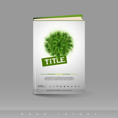 Modern abstract brochure as book flyer design template.