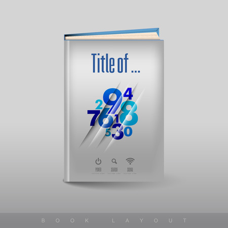 book cover: Modern abstract brochure as book flyer design template. Business - report theme. Illustration
