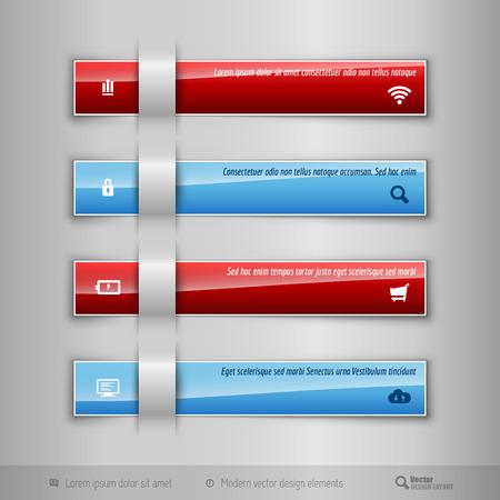 tabs: Modern business tabs for infographics. Ttemplate for web design, presentation, education, banner, brochure and flyer. Illustration