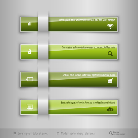 ttemplate: Modern business tabs for infographics. Ttemplate for web design, presentation, education, banner, brochure and flyer. Illustration