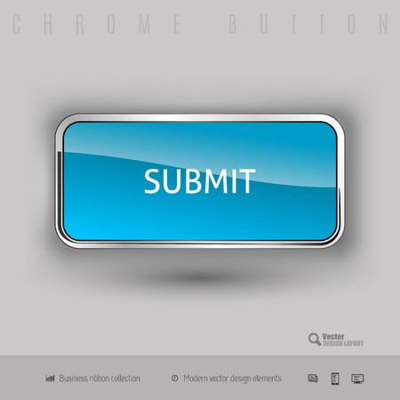 administer: Chrome button submit with color plastic inside. Elegant design elements.