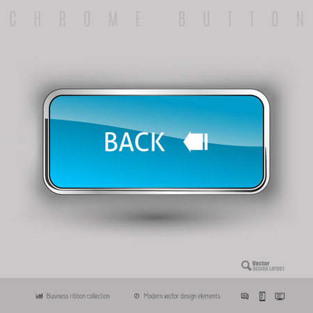 Chrome button back with color plastic inside. Elegant design elements. Фото со стока - 41960668