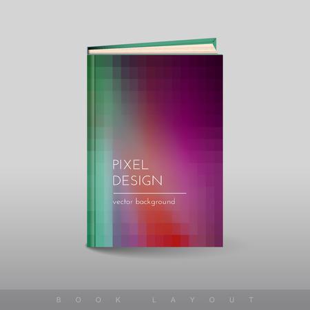 pixelate: Modern abstract brochure as book flyer design template.