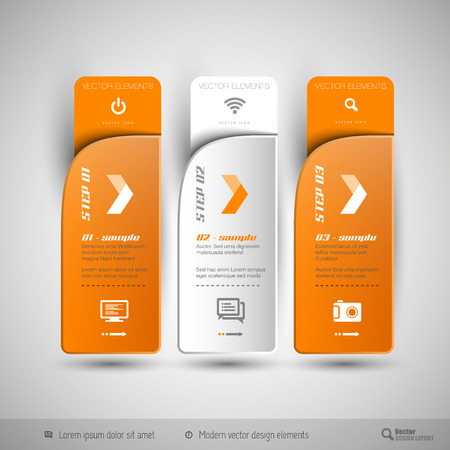 web elements: Modern design elements for infographics, print layout, web pages. Illustration