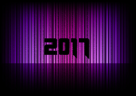 numbers abstract: New year 2017. Abstract background with numbers.  Illustration