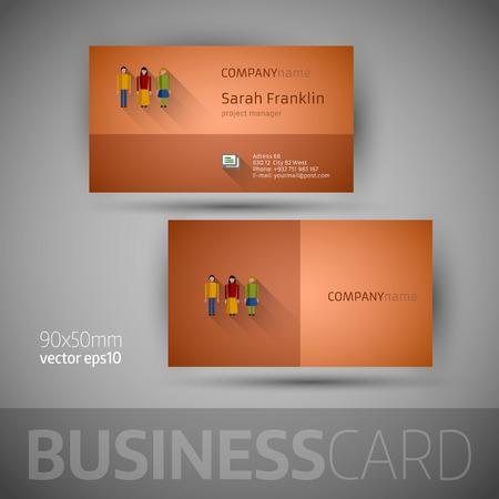 plantilla para tarjetas: Plantilla de tarjeta de visita.