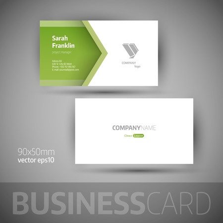 Business card template.  Illustration