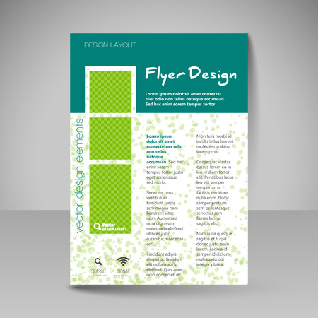 guides: Template for brochure or flyer. Editable site for business, educations, presentations, websites, magazines cover, travel guides. Illustration