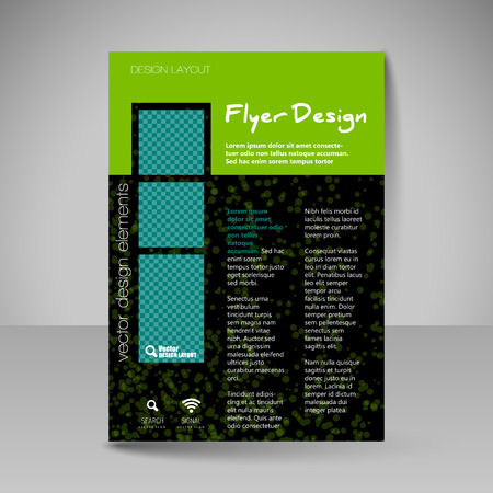 editable: Template for brochure or flyer. Editable site for business, educations, presentations, websites, magazines cover, travel guides. Illustration