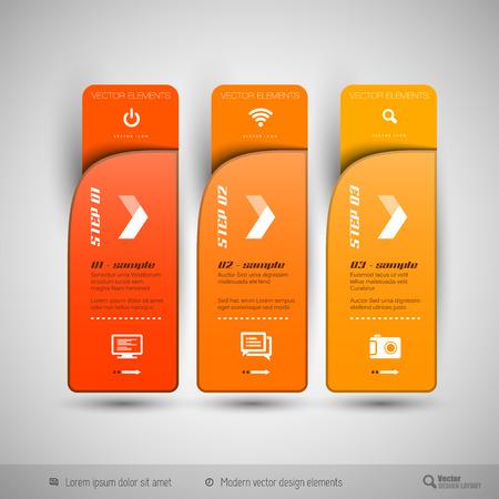 collection: Elementos de diseño moderno para la infografía, diseño de impresión, páginas web.