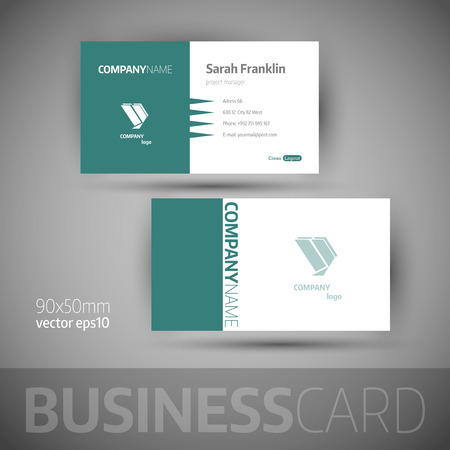 business card: Business card template. Illustration