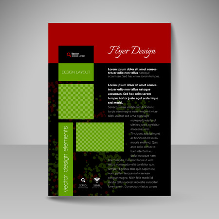 magazine template: Flyer design. Editable template of  site for business, education, presentations, websites, magazines covers, travel guides.
