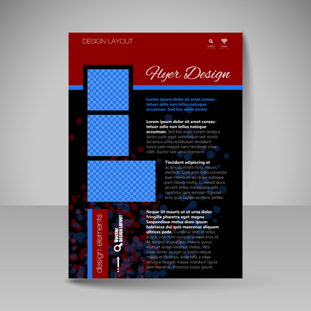 educations: Template for brochure or flyer. Editable site for business, educations, presentations, websites, magazines cover, travel guides. Illustration