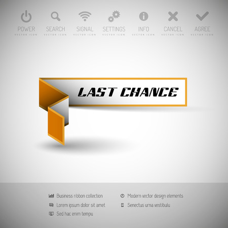 last chance: Modern infographics last chance banner Illustration