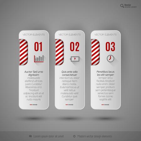 web design elements: Modern design elements for infographics, print layout, web pages. Illustration