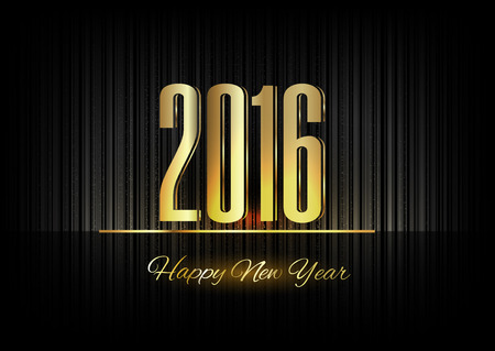 gold numbers: New Year 2016. Gold numbers on the black background