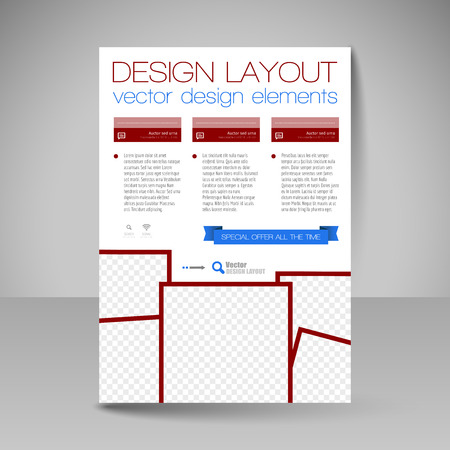 layout design template: Template for brochure or flyer