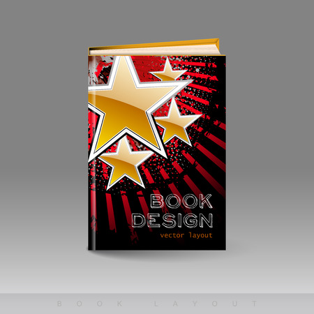 design template: Modern abstract brochure as book flyer design template.