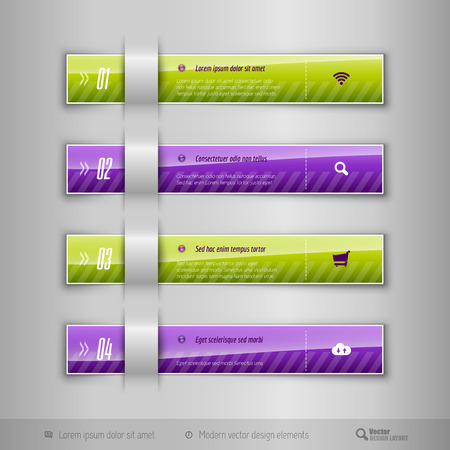 tabs: Modern business tabs for infographics. Template for web design, presentation, education, banner, brochure and flyer.