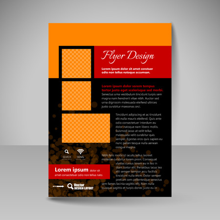 Flyer design. Editable template of  site for business, education, presentations, websites, magazines covers, travel guides.