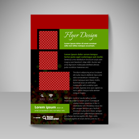 business education: Flyer design. Editable template of  site for business, education, presentations, websites, magazines covers, travel guides.