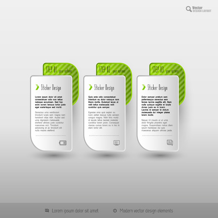 web template: Business infographics template for web design Illustration