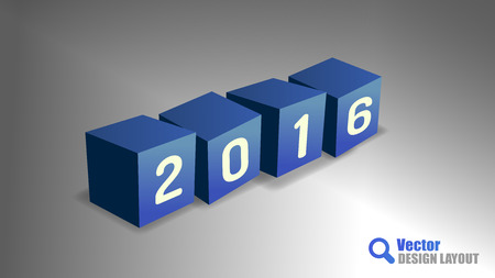 playfull: Four cubes as 2016 playful symbols.