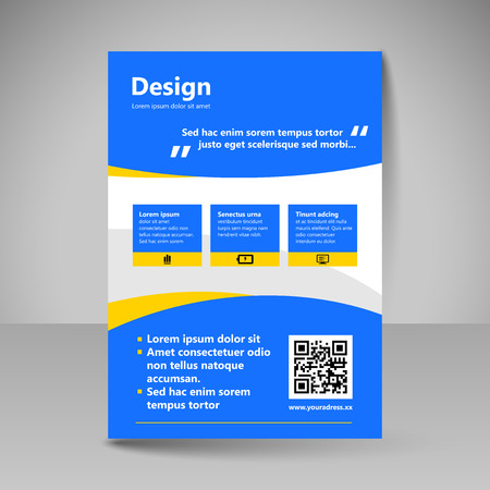 page layout: Template for brochure or flyer. Editable site for business, education, presentation, website, magazine cover.