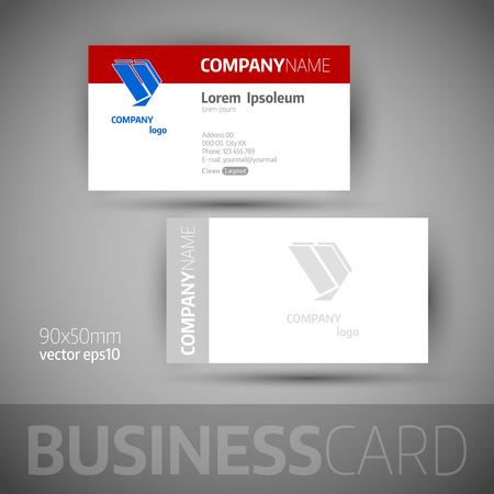 elegant template: Business card template. Elegant vector illustration.