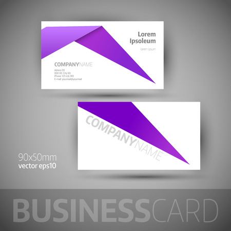 box design: Business card template. Elegant vector illustration.
