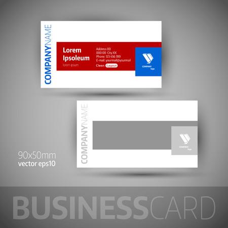 elegant vector: Business card template. Elegant vector illustration.
